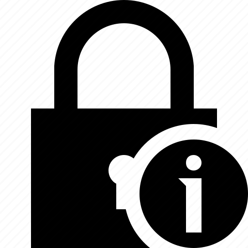 access, information, lock, password, protection, secure icon