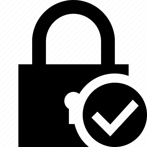 access, lock, ok, password, protection, secure icon