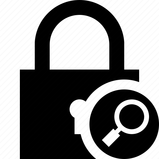access, lock, password, protection, search, secure icon