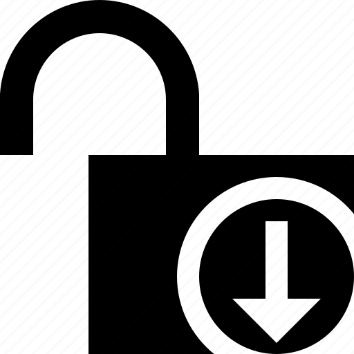 access, download, password, protection, secure, unlock icon