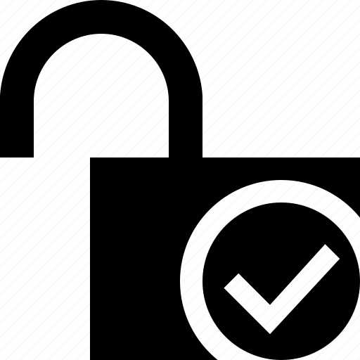 access, ok, password, protection, secure, unlock icon