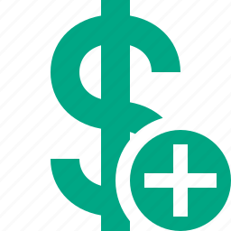 add, business, cash, currency, dollar, finance, money icon