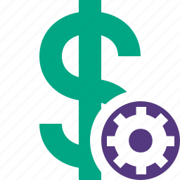 business, cash, currency, dollar, finance, money, settings icon