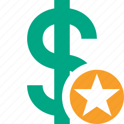 business, cash, currency, dollar, finance, money, star icon