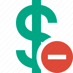 business, cash, currency, dollar, finance, money, stop icon