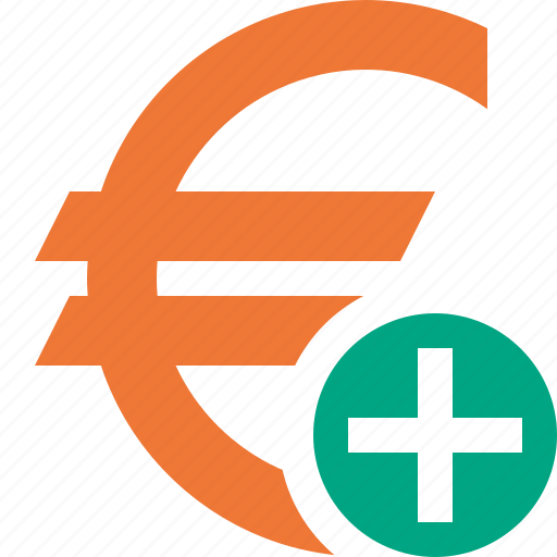 add, business, cash, currency, euro, finance, money icon