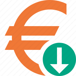 business, cash, currency, download, euro, finance, money icon