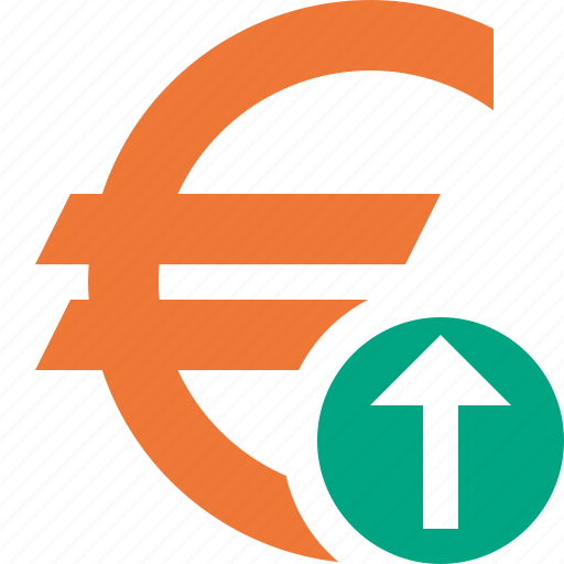 business, cash, currency, euro, finance, money, upload icon