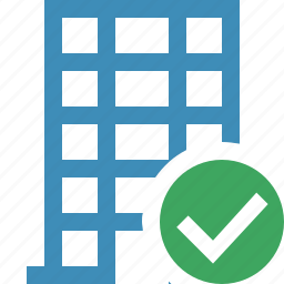 building, business, company, estate, house, office, ok icon