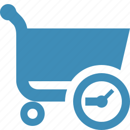 buy, cart, clock, ecommerce, shop, shopping icon
