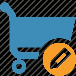 buy, cart, ecommerce, edit, shop, shopping icon