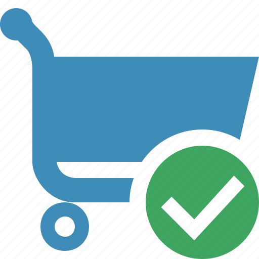 buy, cart, ecommerce, ok, shop, shopping icon