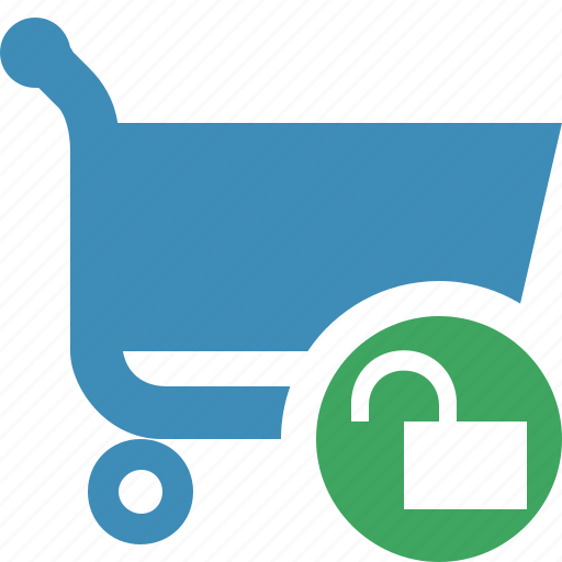 buy, cart, ecommerce, shop, shopping, unlock icon