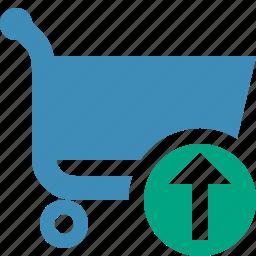buy, cart, ecommerce, shop, shopping, upload icon