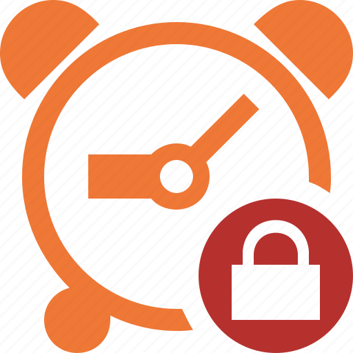 alarm, clock, event, lock, schedule, time, timer icon