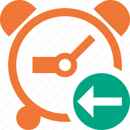 alarm, clock, event, previous, schedule, time, timer icon