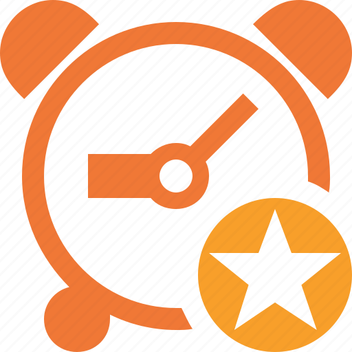 alarm, clock, event, schedule, star, time, timer icon