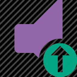 audio, music, sound, speaker, upload, volume icon