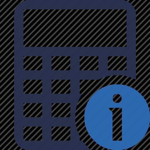 accounting, calculate, calculator, finance, information, math icon
