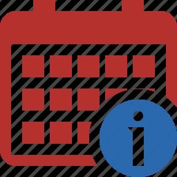 calendar, date, day, event, information, month, schedule icon