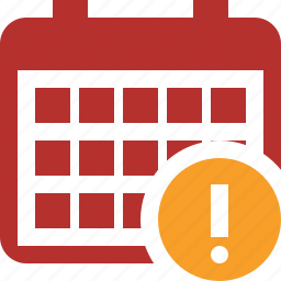 calendar, date, day, event, month, schedule, warning icon