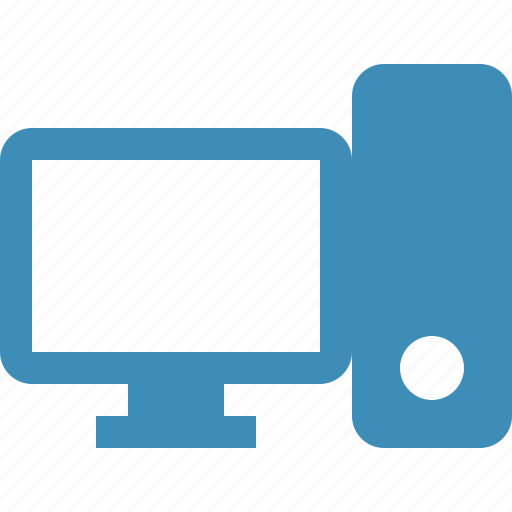 computer, desktop, monitor, server icon