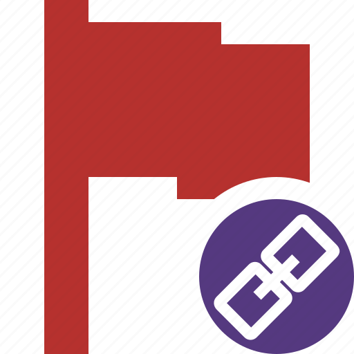 flag, link, location, marker, pin, point, red icon
