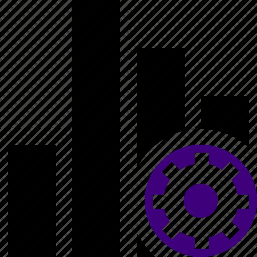 analytics, bar, chart, graph, report, settings, statistics icon