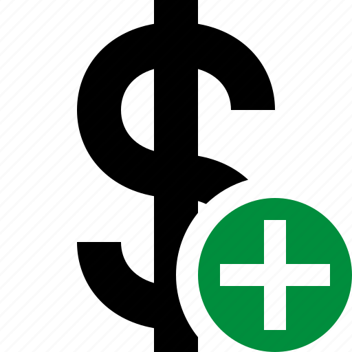 add, business, cash, currency, dollar, finance, money icon