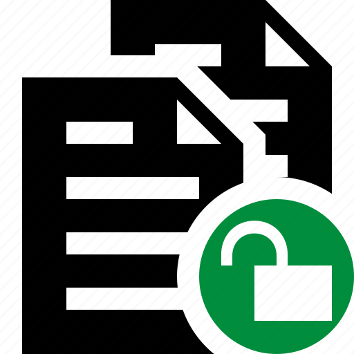 copy, documents, duplicate, files, paste, unlock icon