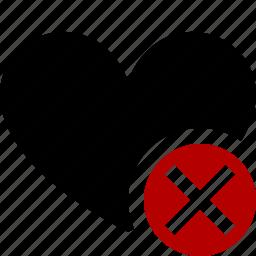 bookmark, cancel, favorites, heart, like, love icon