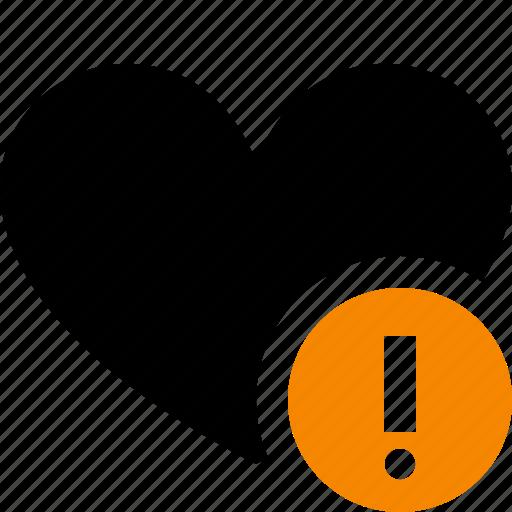 Bookmark, favorites, heart, like, love, warning icon - Download on Iconfinder