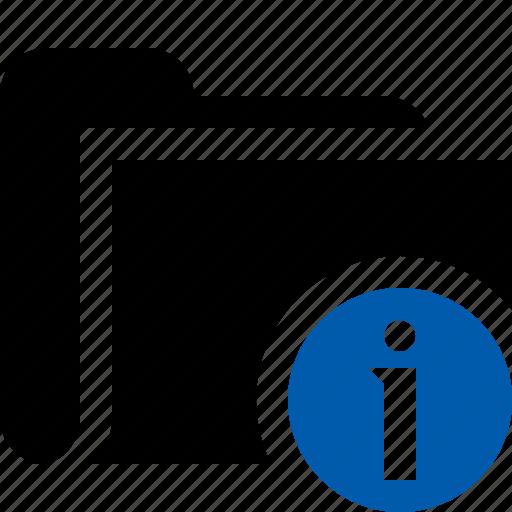 category, file, folder, information, open icon