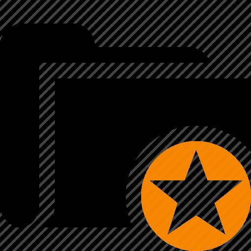 category, file, folder, open, star icon