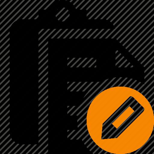 clipboard, copy, edit, paste, task icon