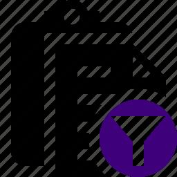 clipboard, copy, filter, paste, task icon