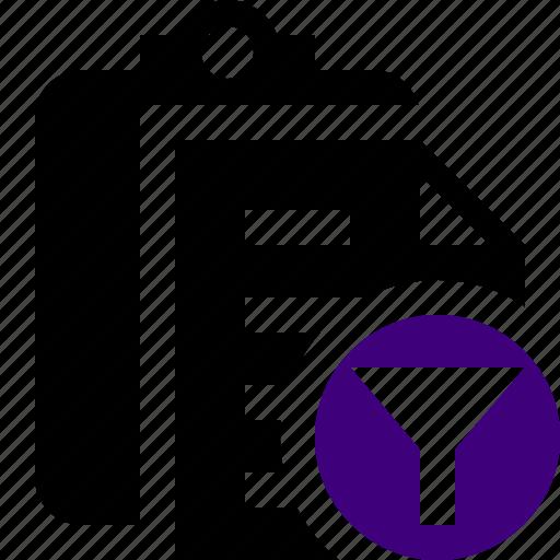 Clipboard, copy, filter, paste, task icon - Download on Iconfinder