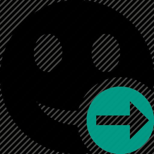 Emoticon, emotion, face, next, smile icon - Download on Iconfinder