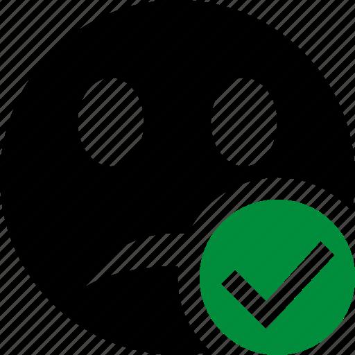 Emoticon, emotion, face, ok, smile, unhappy icon - Download on Iconfinder