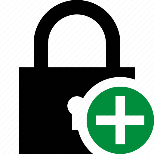 access, add, lock, password, protection, secure icon