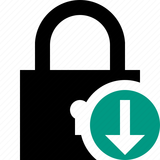 access, download, lock, password, protection, secure icon