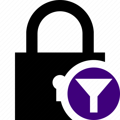 access, filter, lock, password, protection, secure icon