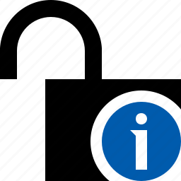 access, information, password, protection, secure, unlock icon