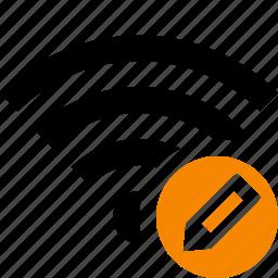 connection, edit, fi, internet, wi, wifi, wireless icon