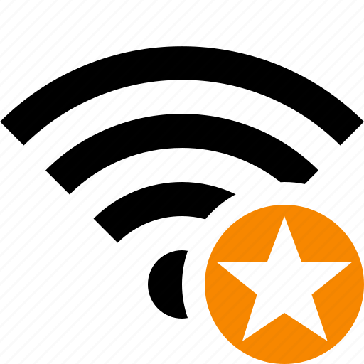 connection, fi, internet, star, wi, wifi, wireless icon