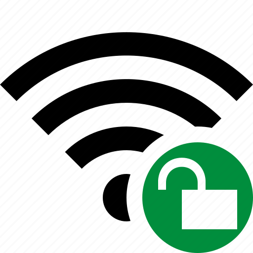 connection, fi, internet, unlock, wi, wifi, wireless icon