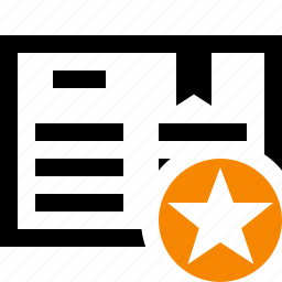 address, book, bookmark, reading, star icon