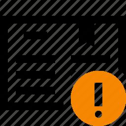 address, book, bookmark, reading, warning icon