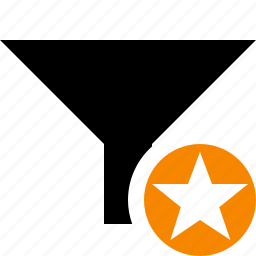 filter, funnel, sort, star, tools icon