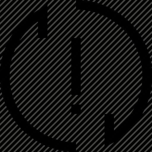 arrow, decrease, exclamation, increase, mark, recycle, refresh icon